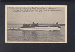Norwegen Norway AK Roald Amundsen Auf Dem Boot Toto Unterwegs Zu Latham 1928 - Altre Celebrità