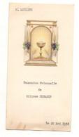 Menu Communion Solennelle Du 20 Mai 1954 - Format : 16x8 Cm Soit 4 Pages - Menükarten