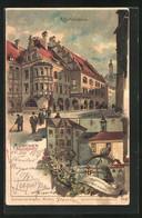 Künstler-AK Theodor Guggenberger: München, Blick Auf Das Hofbräuhaus - Guggenberger, T.