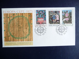 (5)  GREECE FDC 1975 EUROPA SEE SCAN - FDC
