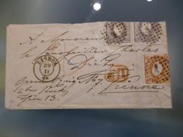 D.LUIS I - FITA CURVA - NÂO DENTEADO - LISBOA  TO AUSTRIA (RR) - Covers & Documents