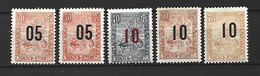 Timbre Colonie Francaises Madagascar  Neuf * N 116/120 Manque Le N 115 - Ongebruikt