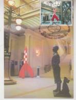 TINTIN   Carte 1er Jour Avec Timbre 1999 - Otros Objetos De Cómics