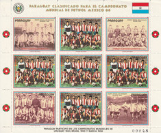 PARAGUAY - Feuillet N°2227 ** (1986) Football : Mexico'86 - Paraguay