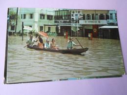 Ventiane Laos Lot 2 Cartes Inondations & ç 1988 Avenue Lane Xang+stade National TBE Ecrites Bountiou Photo - Laos