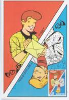 TIBET-DUCHATEAU  Carte 1er Jour Avec Timbre 1999 - Otros Objetos De Cómics