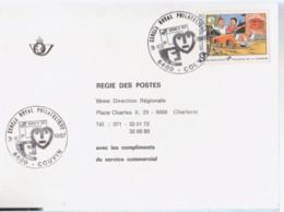 BOB Et BOBETTE  Carte 1er Jour Avec Timbre 1987 - Otros Objetos De Cómics