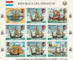 """PARAGUAY - Feuillet N° ** (1985) Bateaux """"La Nina"""" - Paraguay"""