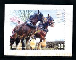 Grande-Bretagne, (oblitéré) Sur Fragment, Dray Horses, 88 - Usados