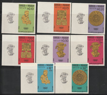 PARAGUAY - N°1543/50 ** NON DENTELE (1966) Jeux Olympiques De Mexico - Paraguay