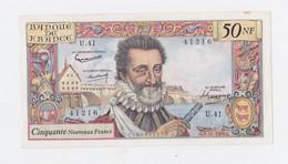 50 Fr.Henry IV Du 5-11-1959 Plis En Croix Et Petite Tache De Rouille - 50 NF 1959-1961 ''Henri IV''