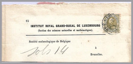 LUXEMBOURG - Adolphe 30c Sole Use - 750g Wrapper-rate To Belgium In 1901 - 1891 Adolfo De Frente