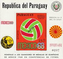 PARAGUAY - Bloc ** (1969) Jeux Olympiques / Football - Paraguay