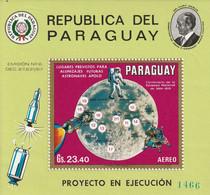 PARAGUAY - BLOC N° ** (1970) Espace : Site D'alunissage Des Vols D'Apollo - Paraguay