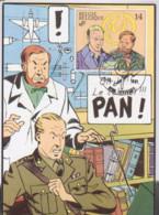 BLAKE Et MORTIMER Carte 1er Jour Avec Timbre 1991 - Otros Objetos De Cómics