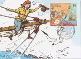 BOB DE MOOR Carte 1er Jour Avec Timbre 1991 - Otros Objetos De Cómics