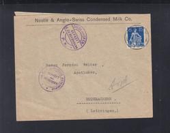 Schweiz Couvert 1917 Nach Lothringen Zensur Diedenhofen - Covers & Documents