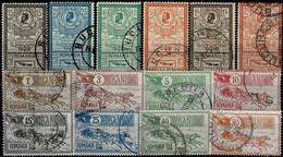Rumänien 146/153 ° + 154-159 ° = Roumanie Yvert 137-150 O. = Romania Scott #158-171 F/u = ZIMBRUL CARPATIN 225-238 - Oblitérés