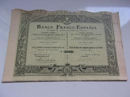 BANCO FRANCO ESPANOL Banque Franco Espagnole (1907) - Unclassified