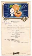 Menu Du 22 Janvier 1950 Avec Publicité Au Dessert Cointreau Liqueur - Format : 24x13.5 Cm - Menükarten