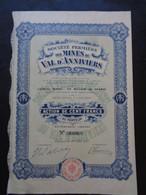 SUISSE - LAUSANNE 1910 - STE FERMIERE DES MINES DU VAL D'ANNIVIERS  ACTION DE 100 FRS - PEU COURANT - Unclassified