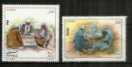 Les Jeux Populaires: Sig (jeu Sahraoui) & Kharbga (Afrique Du Nord). 2 Timbres Neufs ** Année 2021 - Algeria (1962-...)