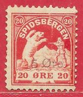 Norvège Spitzberg / Spitsbergen N°? 5o Sur 20o Rouge 19xx * - Altri
