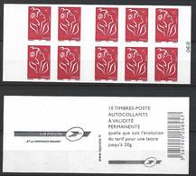 ANNEE 2006. SPLENDIDE LOT DE LUXE CARNET. Non Pliée, Neuf (**) N° 3744b-C8 (68), Gomme D'origine. Côte 23.00 €. - Unused Stamps