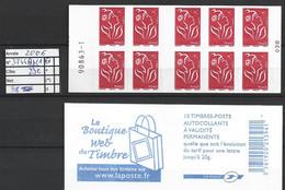 ANNEE 2006. SPLENDIDE LOT DE LUXE CARNET. Non Pliée, Neuf (**) N° 3744Ab - C1 (38), Gomme D'origine. Côte 23.00 €. - Unused Stamps