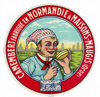 "Camembert De Normandie - Normand Avec Fromage - "" AU VRAI NORMAND "" - Kaas"