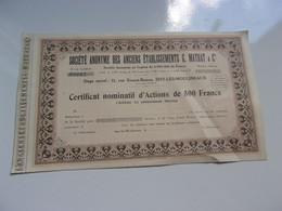 Anciens établissements G. MATRAT (issy Les Moulineaux) - Unclassified
