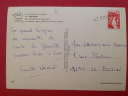 Linéaire Le Pouzin Sur Vue Aérienne Marseille - Manual Postmarks
