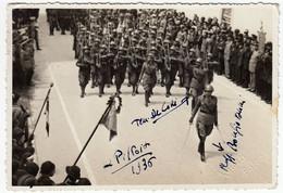 VECCHIA FOTO - OLD PHOTO - MILITARI - PARATA MILTARE - Foto Calossi - Pistoia - Vedi Retro - Guerra, Militari