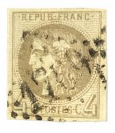 Cérès Signé N° 41b Marron Clair TTB TB Oblitéré République Française 4 C Non Dentelé - 1870 Uitgave Van Bordeaux
