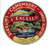 """Camembert De Lorraine - """" L'EXCELL !!!!! """" Vaches Au Pré, Ruisseau, - Kaas"""