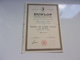 DUNLOP  (5000 Francs) - Unclassified