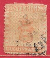 Suède N°5 24s Rouge 1855 (vrai / Genuine) O - Oblitérés