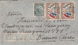 PARAGUAY. ENVELOPPE CIRCULEE ANNEE 1944, ASUNCION A BUENOS AIRES, ARGENTINE. PAR AVION.- LILHU - Paraguay