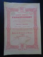 BELGIQUE - BRUXELLES 185 - STE GENERALE D'ASSAINISSEMENT - ACTION DE DIVIDENDE - Unclassified