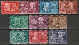 Hungary 1948 Sc C53-62  Air Post Set MNH** - Unused Stamps