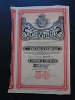 "ESPAGNE - SAINT SEBASTIAN 1929 - SINDICATO DE ESTUDIOS MINEROS DEL NORTE DE ESPANA - ACTION ""B"" 50 PST - Unclassified"