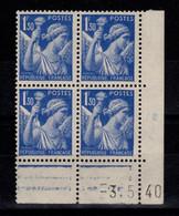 Coin Daté - Iris YV 434 N** Du 3.5.40 - 1940-1949