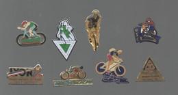 PINS PIN'S VELO CYCLISME 791 TOUR DE FRANCE CYCLOCROSS BUD TINAZZI SAINT HERBELAIN FLEURY USC  LOT 8 PINS - Supplies And Equipment