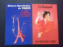 *DINERS-SPECTACLES De PARIS  L'Ane Rouge Elephant Bleu Rotisserie De L'Abbaye  *A LA ROUMANOFF Anne Roumanoff A Bobino - Autres
