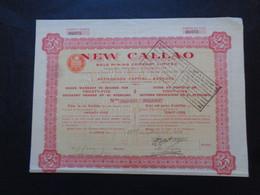 VENEZUELAS - NEW CALLAO GOLD MINNING - TITRE DE 25  ACTIONS DE 1£ - LONDRES 1933 - Unclassified
