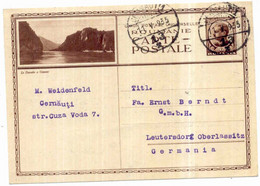 1935 Bildpostkarte Donau Bei Cazane Stempel Cernauti = Czernowitz Heute Ukraine - Cartas