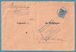 L Affr 25c De Ste ADRESSE /1915 Pour Arrivée Au  Mozambique + Censure Locale. R - Niet-bezet Gebied