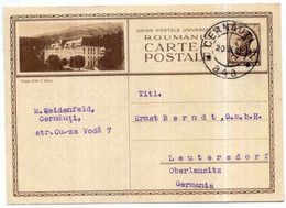 1935 Bildpostkarte Palace Hotel Sinaia Stempel Cernauti = Czernowitz Heute Ukraine - Cartas