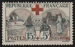 France N°156, Croix-Rouge 1918, Neuf * Quasi ** Sans Charnière COTE 140 € - TB - Nuovi