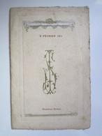 1911 MENU 2 Février 1911 Monsieur BRULEZ (NEUILLY L'EVEQUE (Haute-Marne)) - Menükarten